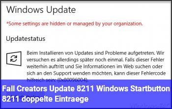 Fall Creators Update – Windows Startbutton – doppelte Einträge
