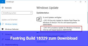 Fastring Build 18329 zum Downbload