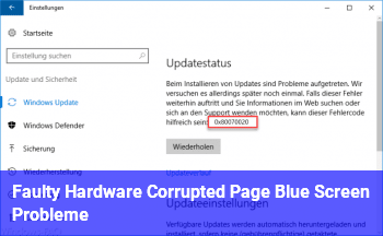 Faulty Hardware Corrupted Page (Blue Screen Probleme)