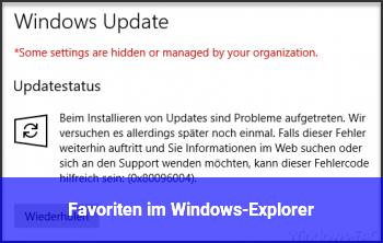 Favoriten im Windows-Explorer