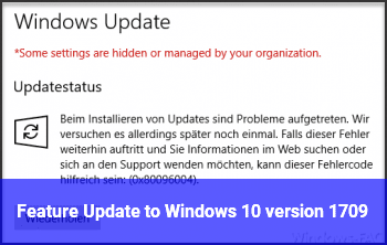 Feature Update to Windows 10, version 1709