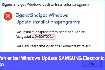 Fehler bei Windows Update (SAMSUNG Electronics Co)