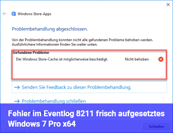 Fehler im Eventlog – frisch aufgesetztes Windows 7 Pro x64