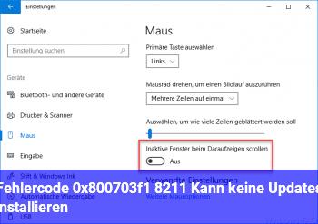 Fehlercode 0x800703f1 – Kann keine Updates installieren