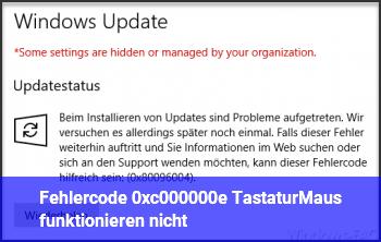 Fehlercode 0xc000000e Tastatur/Maus funktionieren nicht!