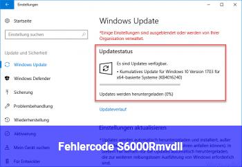 Fehlercode S6000Rmv.dll