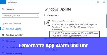 Fehlerhafte App Alarm und Uhr