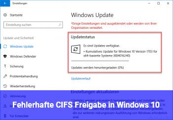 Fehlerhafte CIFS Freigabe in Windows 10?