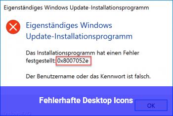 Fehlerhafte Desktop Icons