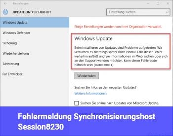 Fehlermeldung: Synchronisierungshost_Session…
