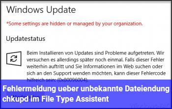 Fehlermeldung über unbekannte Dateiendung /chkupd im File Type Assistent