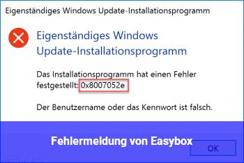 """Fehlermeldung von """"Easybox"""""""