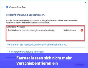 Fenster lassen sich nicht mehr verschieben frieren ein windows 10 net - Fenster lasst sich nicht offnen ...