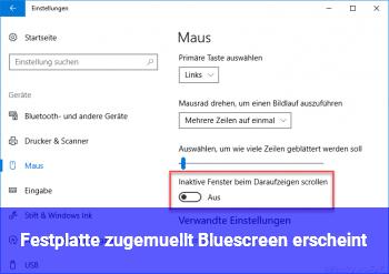 Festplatte zugemüllt: Bluescreen erscheint??!