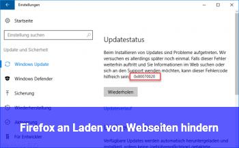 Firefox an Laden von Webseiten hindern
