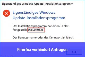 Firerfox verhindert Anfragen