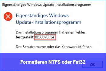 Formatieren NTFS oder Fat32