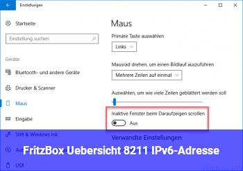 Fritz!Box Übersicht – IPv6-Adresse