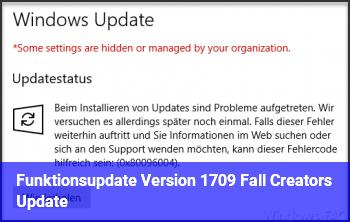 Funktionsupdate Version 1709 (Fall Creators Update)