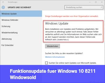 Funktionsupdate für Windows 10 – Windows.old