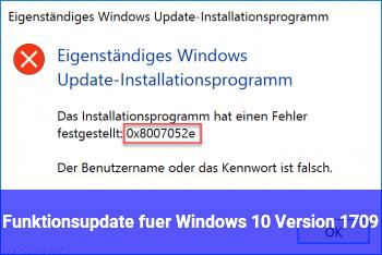 Funktionsupdate für Windows 10, Version 1709