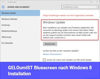 [GELÖST] Bluescreen nach Windows 8 Installation