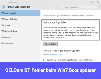 "[GELÖST] Fehler beim ""Win.7 Boot updater"""