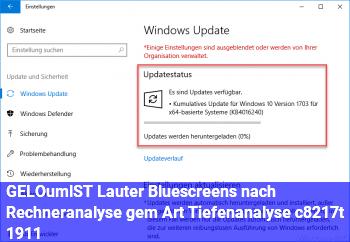 [GELÖST] Lauter Bluescreens nach Rechneranalyse gem. Art. Tiefenanalyse, c't 19/11