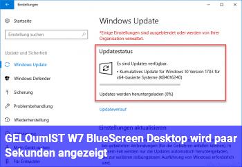[GELÖST] W7 BlueScreen, Desktop wird paar Sekunden angezeigt
