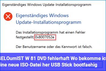 [GELÖST] W 8.1 DVD fehlerhaft. Wo bekomme ich eine neue ISO-Datei her & USB Stick bootfähig
