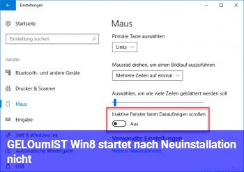 [GELÖST] Win8 startet nach Neuinstallation nicht