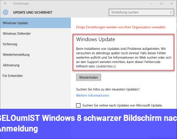 [GELÖST] Windows 8 schwarzer Bildschirm nach Anmeldung