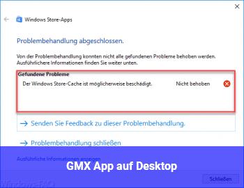 GMX App auf Desktop