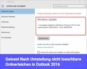 [Gelöst] Nach Umstellung nicht löschbare Ordnerleichen in Outlook 2016