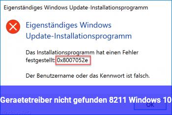 Gerätetreiber nicht gefunden – Windows 10