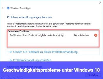 Geschwindigkeitsprobleme unter Windows 10