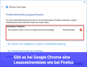 Gibt es bei Google Chrome eine Lesezeichenleiste wie bei Firefox?