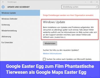 Google Easter Egg zum Film Phantastische Tierwesen als Google Maps Easter Egg