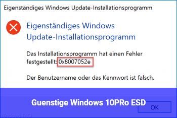 Günstige Windows 10PRo ESD
