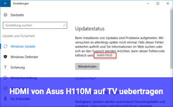 HDMI von Asus H110M auf TV übertragen