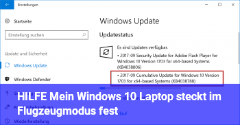 HILFE! Mein Windows 10 Laptop steckt im Flugzeugmodus fest!