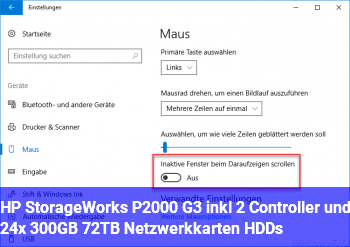 HP StorageWorks P2000 G3 inkl. 2 Controller und 24x 300GB / 7,2TB + Netzwerkkarten + HDD´s