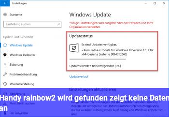 Handy rainbow2 wird gefunden, zeigt keine Daten an