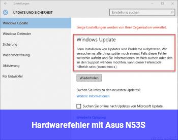 Hardwarefehler mit Asus N53S ?