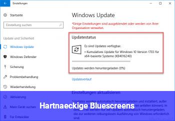 Hartnäckige Bluescreens
