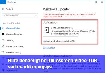 "Hilfe benötigt bei Bluescreen ""Video TDR vailure  atikmpag.sys"""