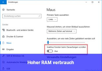 Hoher RAM verbrauch