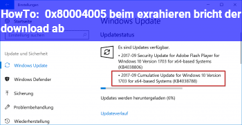 HowTo 0x80004005 beim exrahieren bricht der download ab