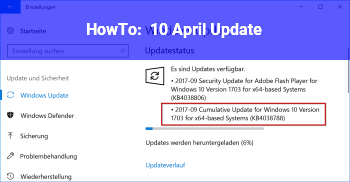 HowTo 10. April Update