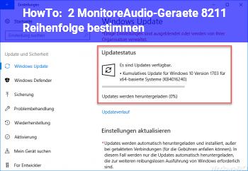 HowTo 2 Monitore/Audio-Geräte – Reihenfolge bestimmen?